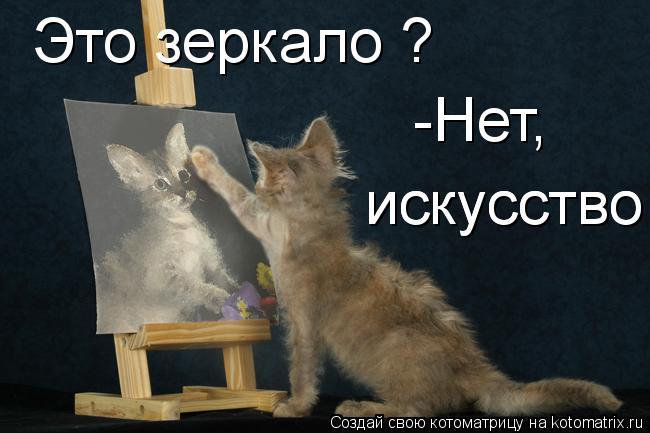 Котоматрица: Это зеркало ? -Нет, искусство   искусство