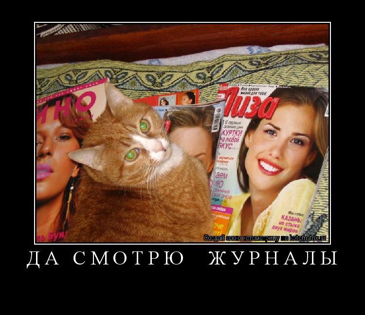 Котоматрица: да смотрю  журналы