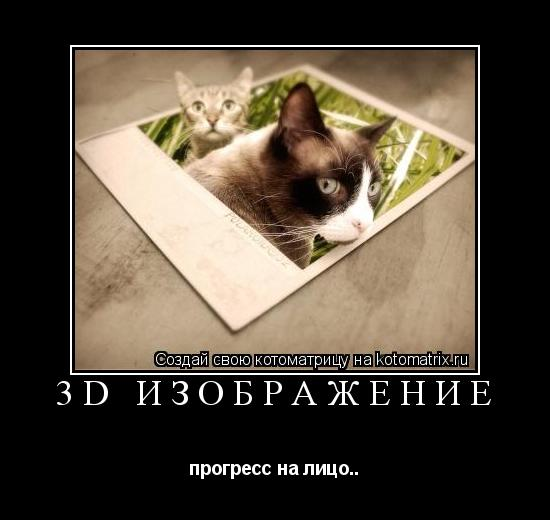 Котоматрица: 3D изображение прогресс на лицо..