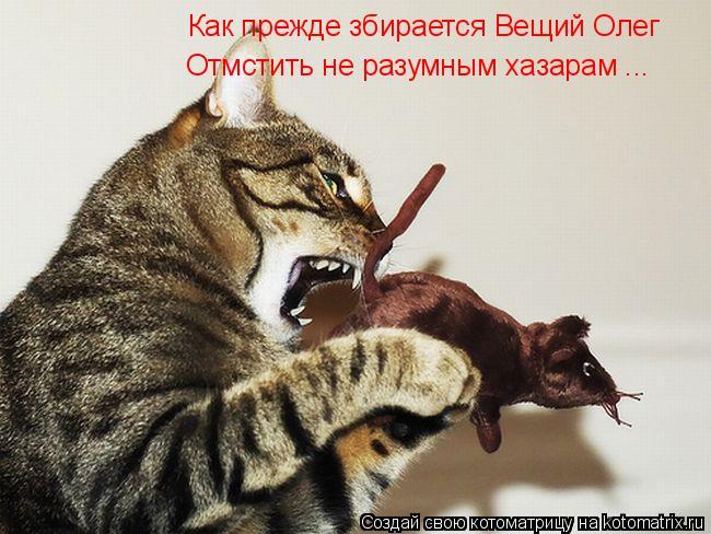 Котоматрица: Как прежде збирается Вещий Олег Отмстить не разумным хазарам ...