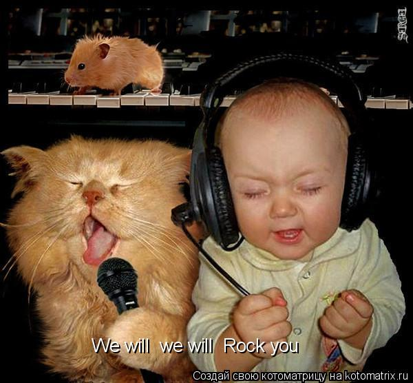 Котоматрица: We will  we will  Rock you