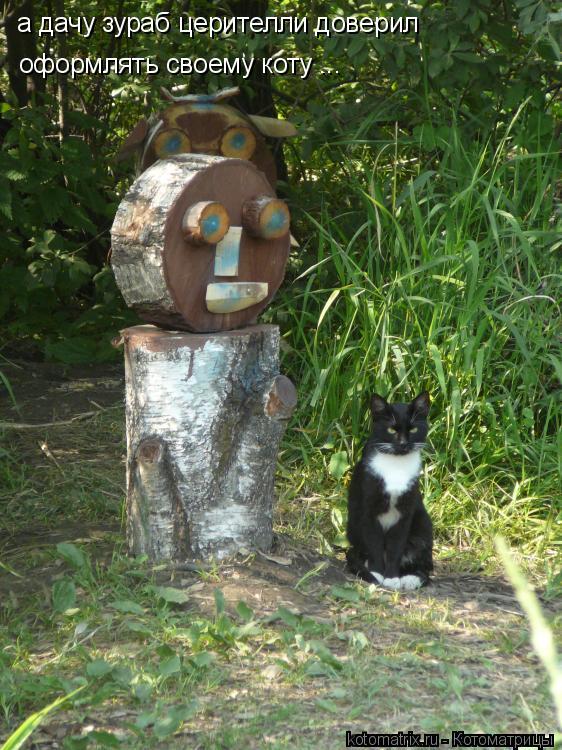 Котоматрица: а дачу зураб церителли доверил оформлять своему коту ...