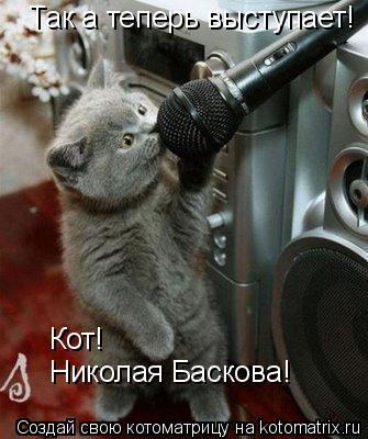 Котоматрица: Так а теперь выступает! Кот! Николая Баскова!