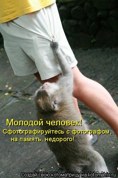 Котоматрица: Молодой человек! Сфотографируйтесь с фотографом, на память, недорого!