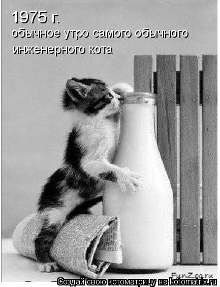 Котоматрица: 1975 г. обычное утро самого обычного инженерного кота