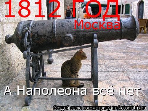 Котоматрица: 1812 ГОД А Наполеона всё нет Москва