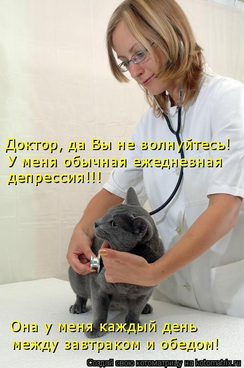 Доктор, да Вы не волнуйтесь! У меня обычная ежедневная депрессия!!! Он