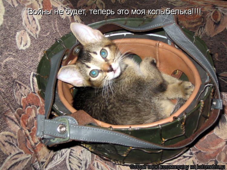 Котоматрица: Войны не будет, теперь это моя колыбелька!!!! Войны не будет, теперь это моя колыбелька!!!!
