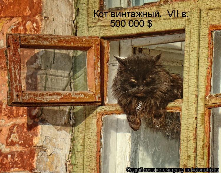 Котоматрица: Кот винтажный.  VII в. 500 000 $