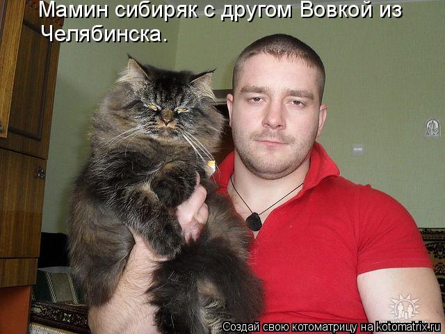 Котоматрица - Мамин сибиряк с другом Вовкой из Челябинска.