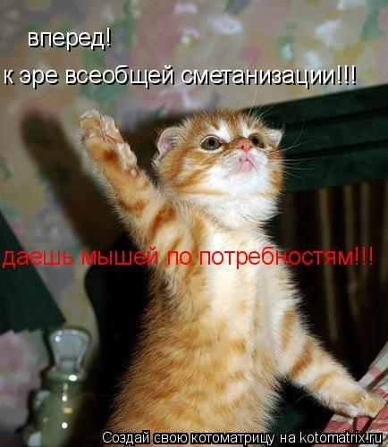 Котоматрица: вперед! к эре всеобщей сметанизации!!! даешь мышей по потребностям!!!