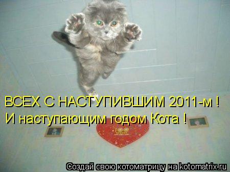 Котоматрица: ВСЕХ С НАСТУПИВШИМ 2011-м ! И наступающим годом Кота !