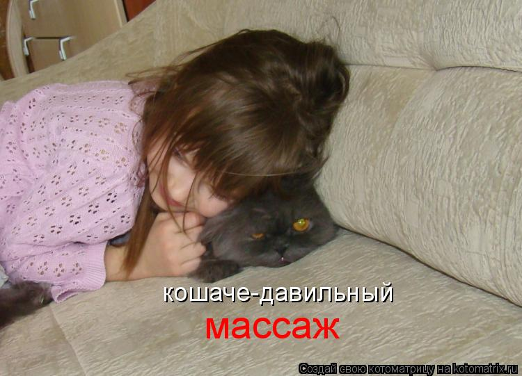 Котоматрица: кошаче-давильный массаж