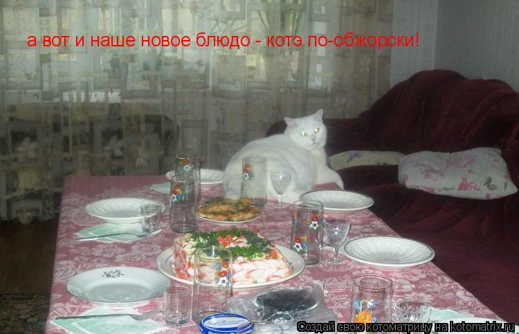 Котоматрица: а вот и наше новое блюдо - котэ по-обжорски!
