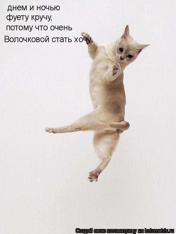 Котоматрица: днем и ночью Волочковой стать хочу фуету кручу, потому что очень