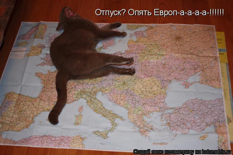 Котоматрица: Отпуск? Опять Европ-а-а-а-а-!!!!!!
