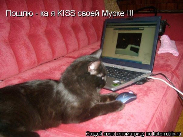 Котоматрица: Пошлю - ка я KISS своей Мурке !!!