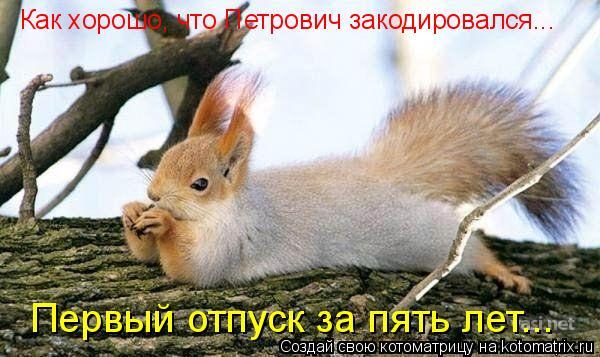 Как хорошо, что Петрович закодировался... Первый отпуск за пять лет...