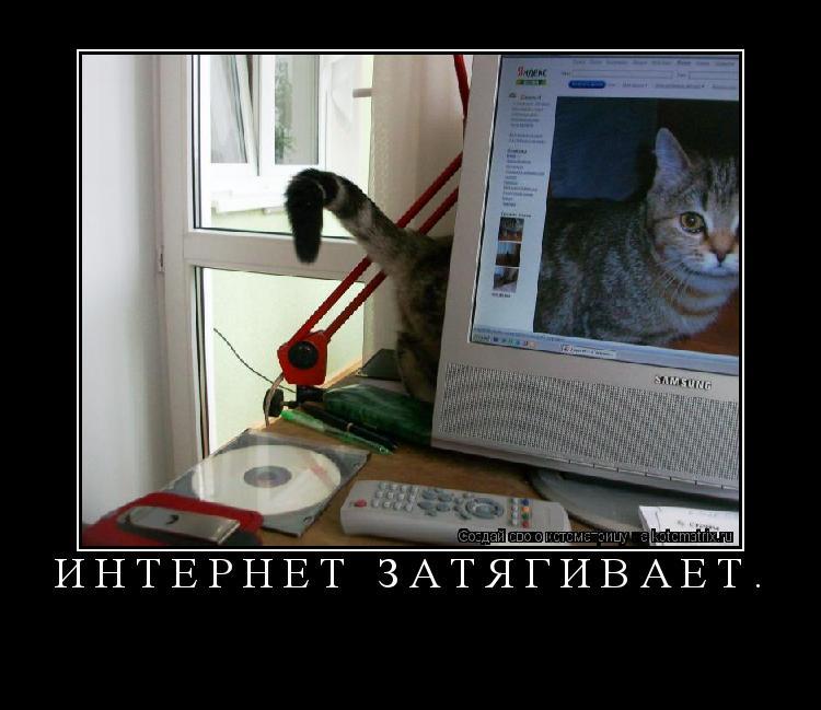 Котоматрица: Интернет затягивает.