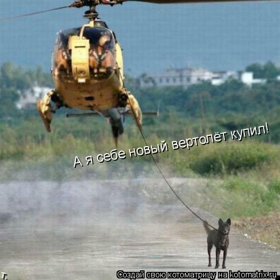 Котоматрица: А я себе новый вертолёт купил!