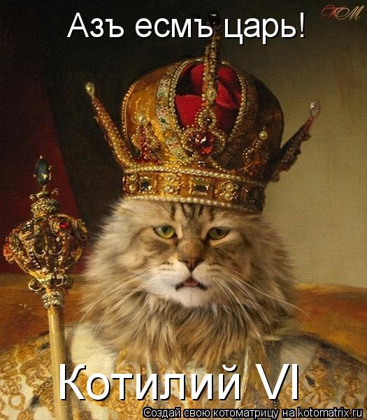 Котоматрица: Азъ есмъ царь! Котилий VI