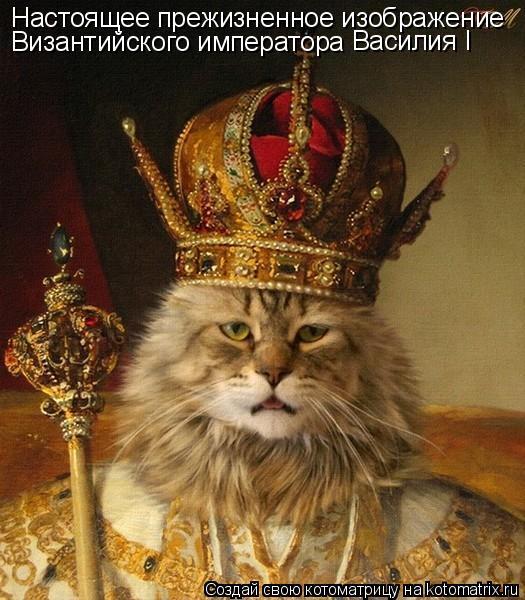 Котоматрица: Настоящее прежизненное изображение  Византийского императора Василия I