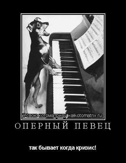 Котоматрица: оперный певец так бывает когда кризис!