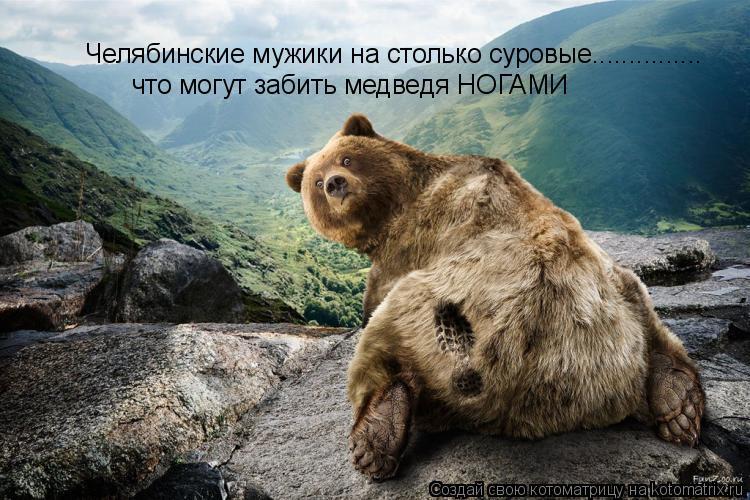 Котоматрица: Челябинские мужики на столько суровые............... что могут забить медведя НОГАМИ