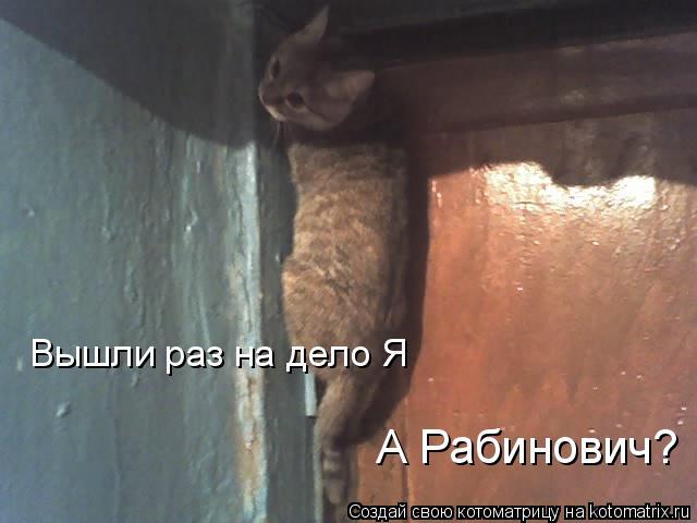 Котоматрица: Вышли раз на дело Я А Рабинович?