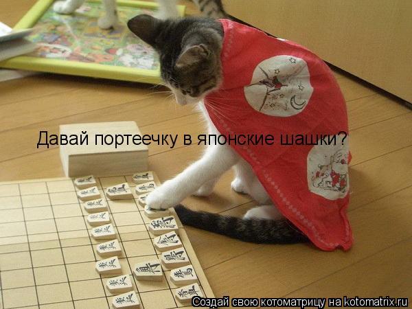 Котоматрица: Давай портеечку в японские шашки?