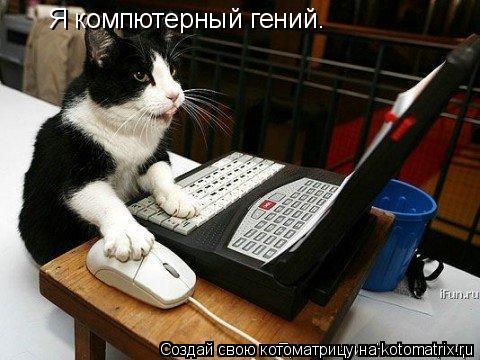 Котоматрица: Я компютерный гений.