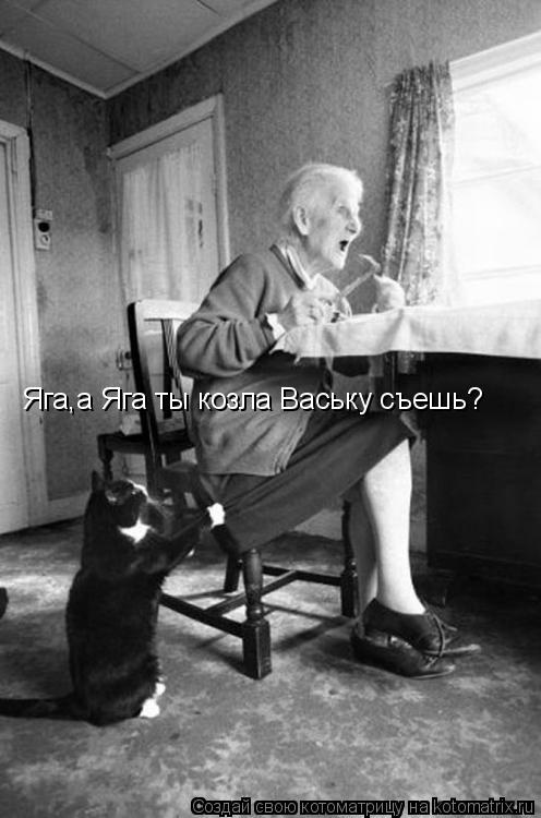 Котоматрица: Яга,а Яга ты козла Ваську съешь?
