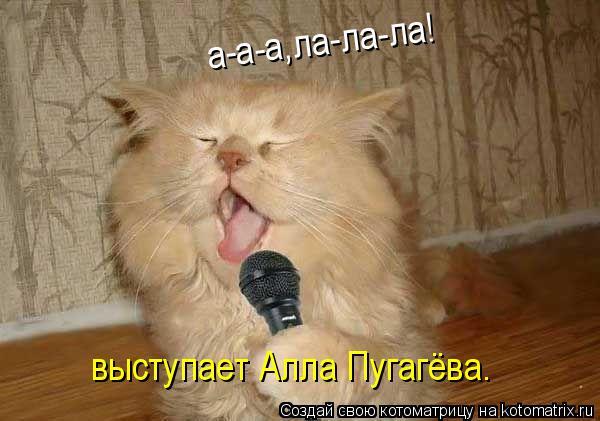Котоматрица: а-а-а,ла-ла-ла! выступает Алла Пугагёва.