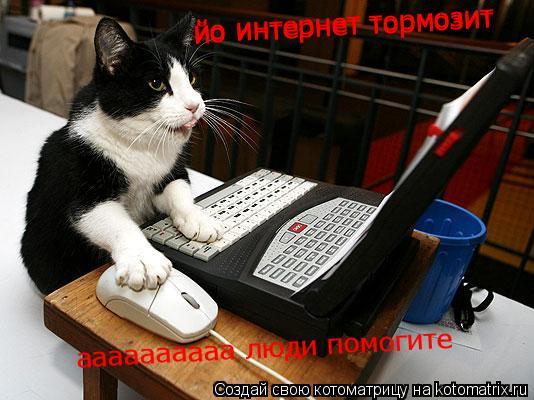 Котоматрица: йо интернет тормозит йо интернет тормозит аааааааааа люди помогите