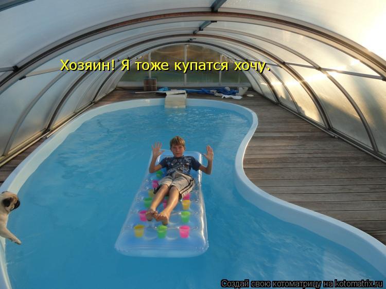 Котоматрица: Хозяин! Я тоже купатся хочу.