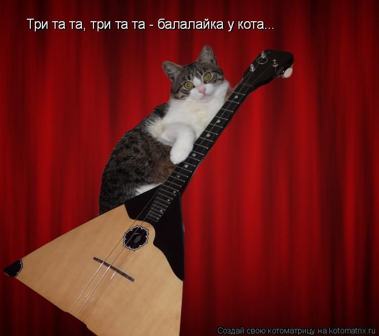 Котоматрица: Три та та, три та та - балалайка у кота... Три та та, три та та - балалайка у кота...