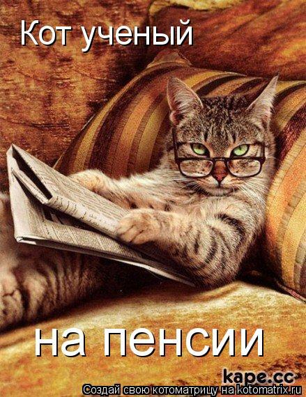 Котоматрица: Кот ученый  на пенсии
