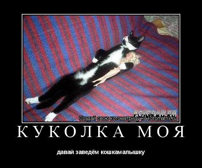 Котоматрица: куколка моя давай заведём кошкамалышку