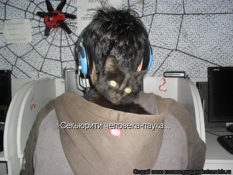 Котоматрица: Секьюрити человека-паука...