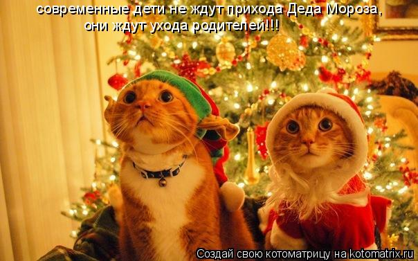 Котоматрица: современные дети не ждут прихода Деда Мороза, они ждут ухода родителей!!!