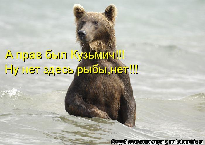 Котоматрица: А прав был Кузьмич!!! Ну нет здесь рыбы,нет!!!