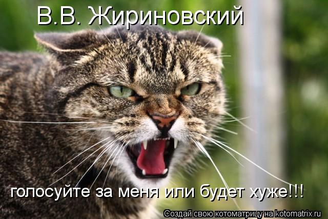 Котоматрица: В.В. Жириновский голосуйте за меня или будет хуже!!!