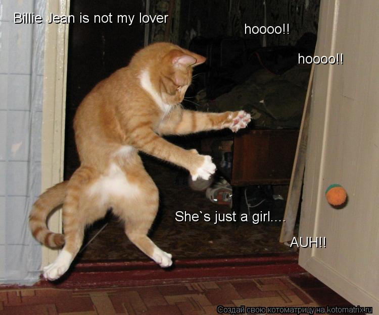 Котоматрица: Billie Jean is not my lover hoooo!! hoooo!! She`s just a girl.... AUH!!