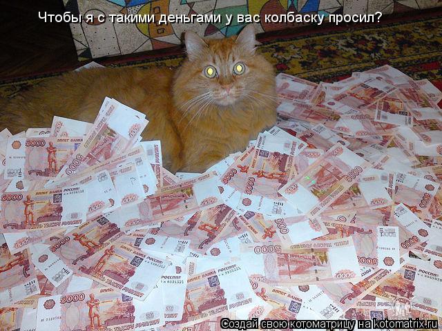 Котоматрица: Чтобы я с такими деньгами у вас колбаску просил?