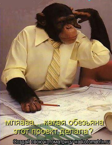 Котоматрица: мляааа... какая обезьяна  этот проект делала?