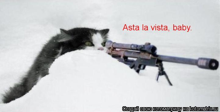 Котоматрица: Asta la vista, baby.