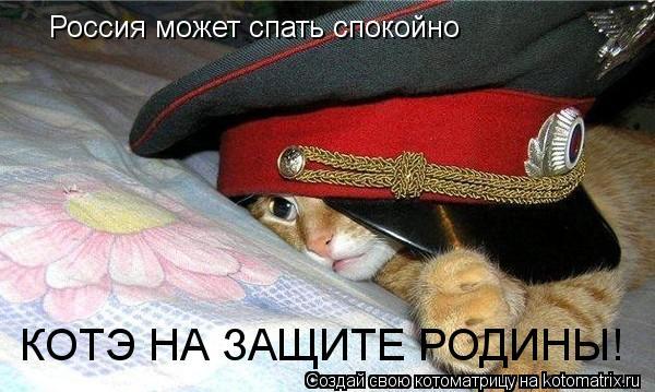Котоматрица: Россия может спать спокойно КОТЭ НА ЗАЩИТЕ РОДИНЫ!