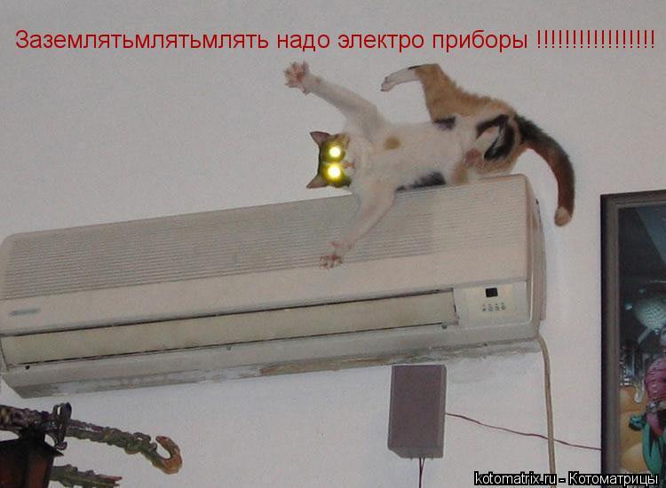 Котоматрица: Заземлятьмлятьмлять надо электро приборы !!!!!!!!!!!!!!!!!