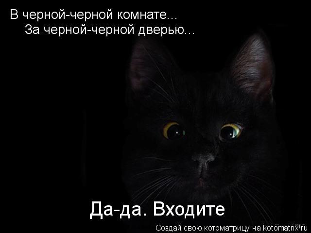 Котоматрица: В черной-черной комнате... За черной-черной дверью... Да-да. Входите