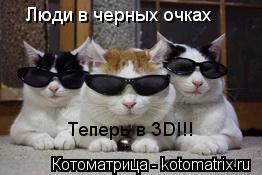 Котоматрица: Люди в черных очках Теперь в 3D!!!